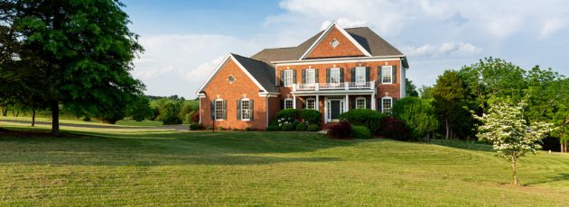 A large brick home