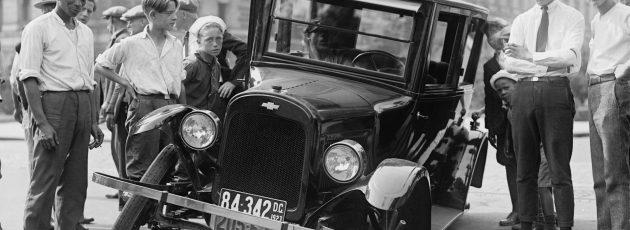 Auto accident circa 1925 -auto insurance